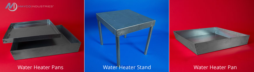 Galvanized Water Heater Pans and Stands