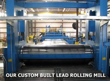 Custom Built Lead Rolling Mill